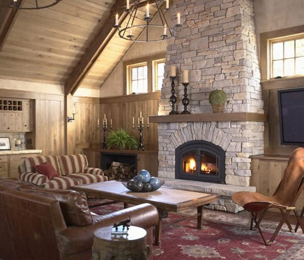 Fireplace Perfect For High Ceiling Homes