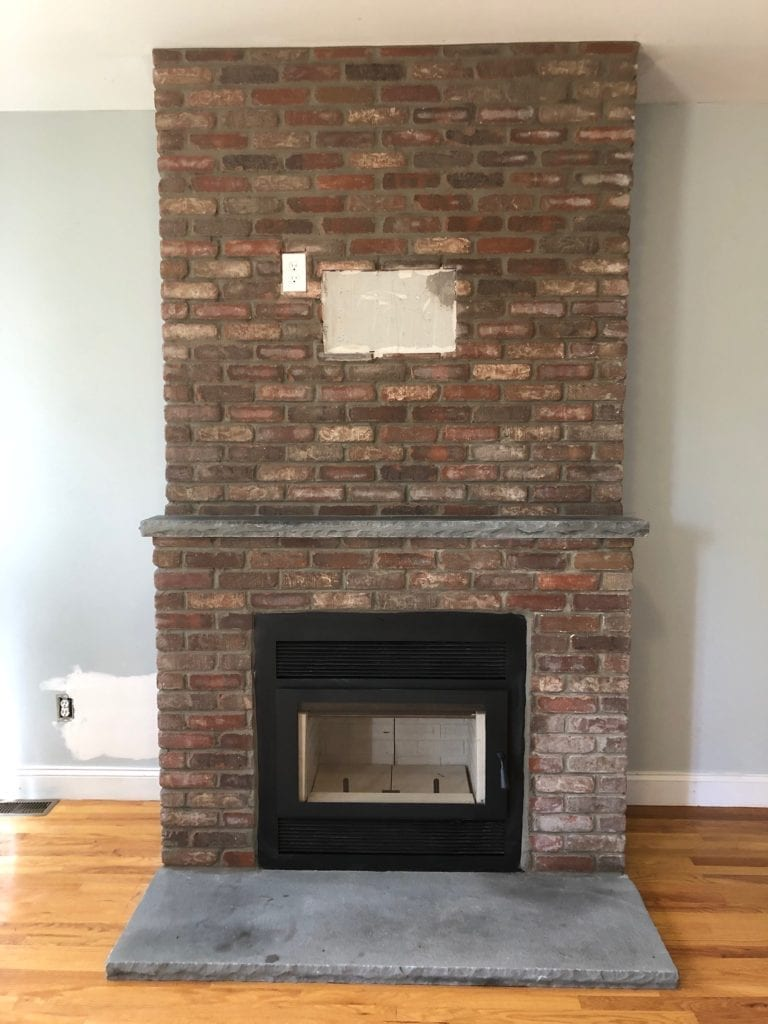 Finished Fireplace